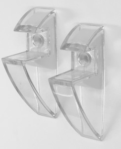 15576CLR 19mm clear clip brackets