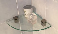 250mmx8mm corner glass and cube clips large