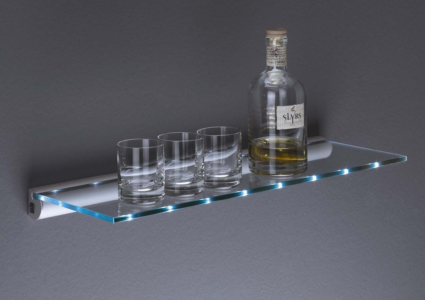 Glass Shelf With Rail - Glass Designs