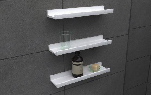 4L4010HGWHT x 3 belle ledge shelves