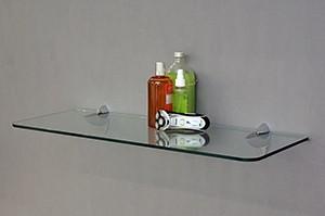 ARA Silver and 800x300x8mm glass shelf situ