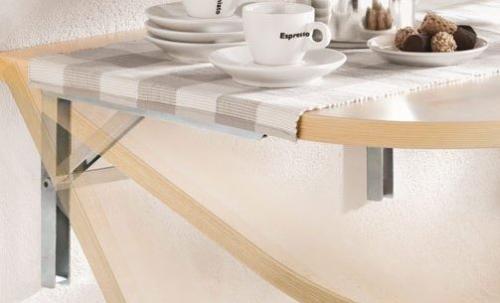 Fold down bracket shelf situ