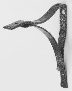 Freeform bracket Hammered silver 180mm part 7600HS