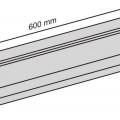 Glass slot bracket  600x10mm dimens