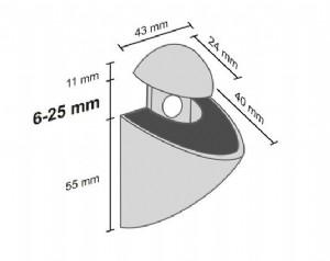 Splash clip dimensions