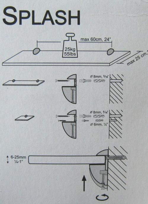 Splash fixing instructions