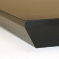floating shelf bevel edge detail