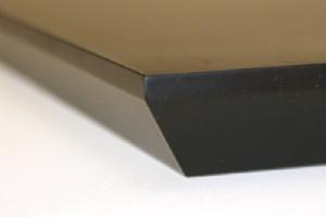 floating shelf bevel edge detail
