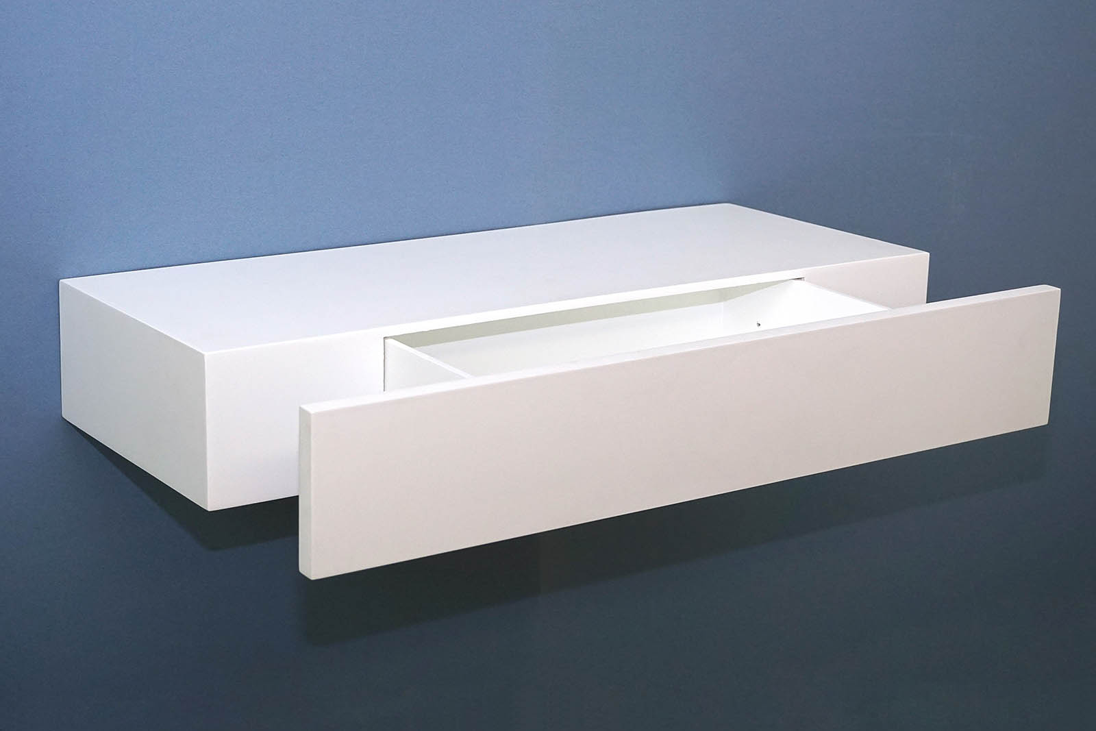 floating shelf with drawer 600x250x100mm topshelf