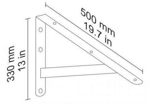 Beam bracket 500x330mm 90238 dimens
