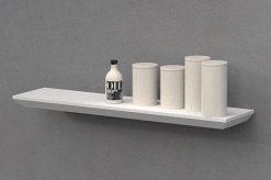 Topshelf 51025AEWHT beveled edge 1000x250x38mm White