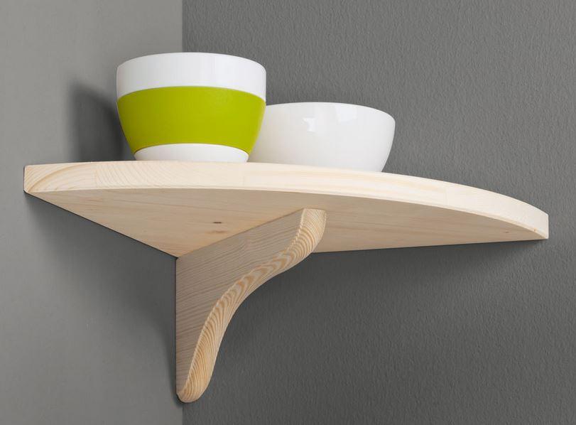 PUR 25x25 Pine corner shelf kit