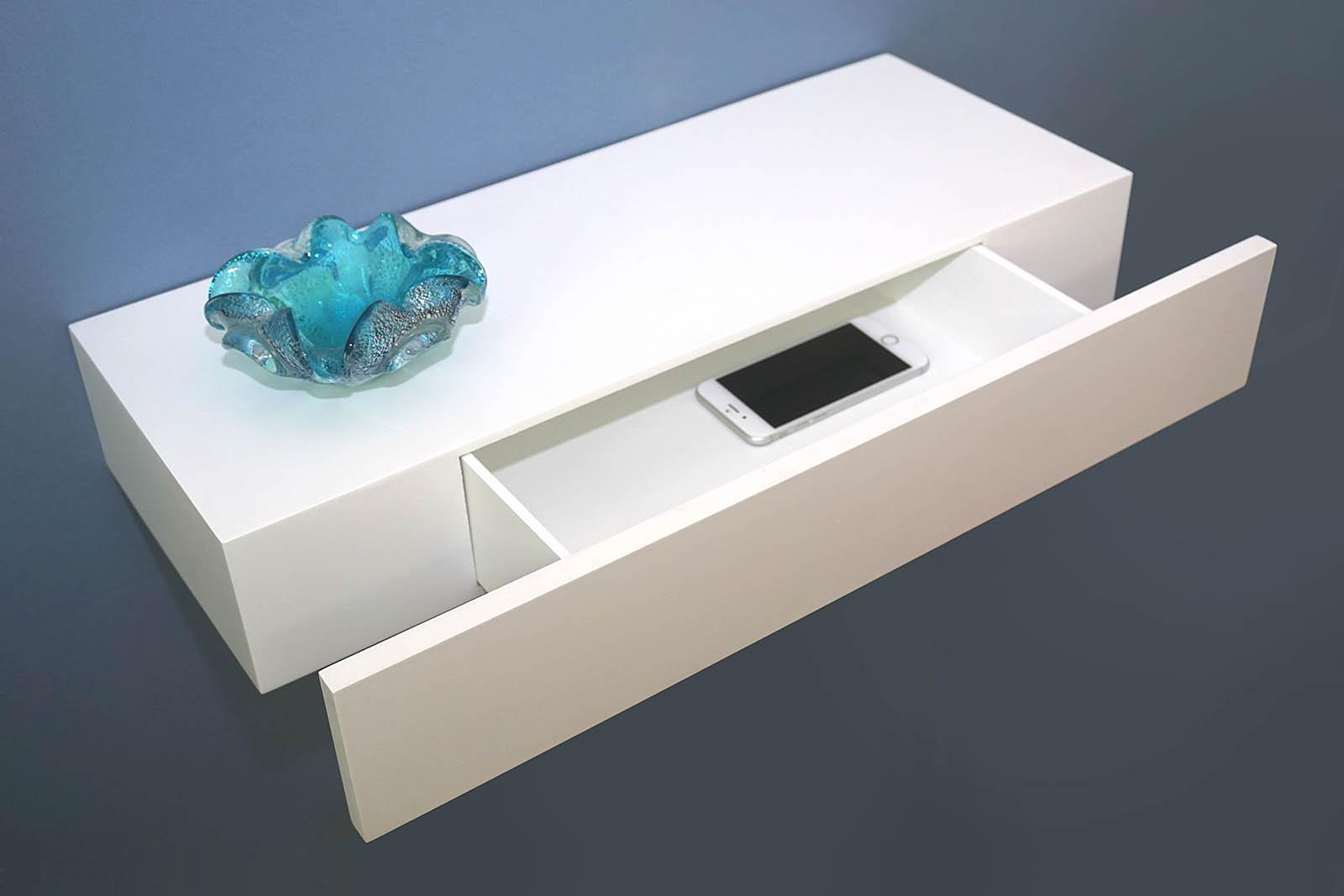Floating Shelf With Drawer 600x250x100mm Topshelf